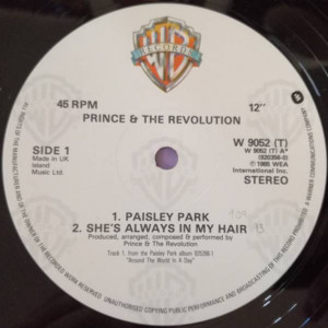 Prince And The Revolution - Paisley Park - Paisley Park - W9052T, Paisley Park - 920 356-0, Warner Bros. Records - W 9052 (T), Warner Bros. Records - 920356-0