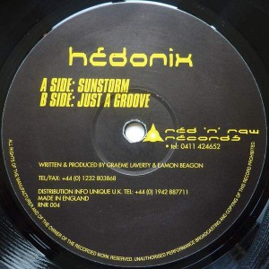 Hedonix - Sunstorm / Just A Groove - Red 'n' Raw Recordings - RNR 004