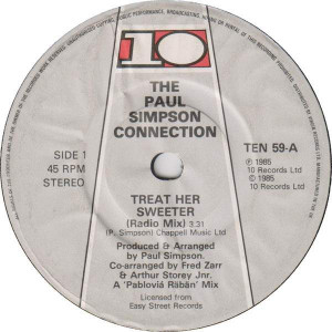 Paul Simpson Connection - Treat Her Sweeter - 10 Records - TEN 59
