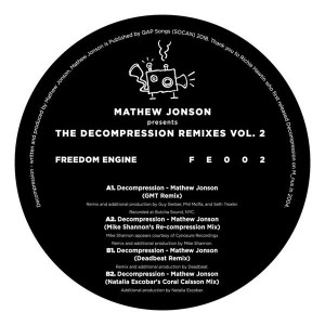 Mathew Jonson - The Decompression Remixes Vol. 2 - Freedom Engine - FE002