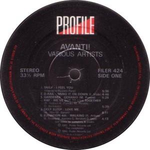 Various - Avanti! - Profile Records - FILER 424