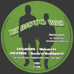 The Bisto Boys - Shnarsty / Rock 'N' Rohipnol - Phantasm Records - PTM35
