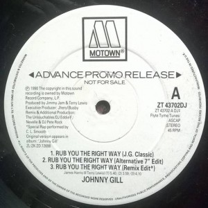 Johnny Gill - Rub You The Right Way - Motown - ZT 43702DJ
