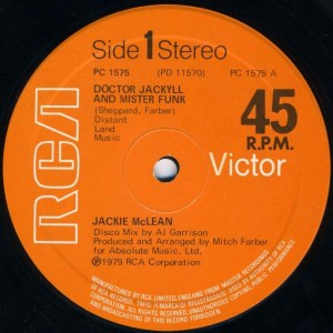 Jackie McLean - Doctor Jackyll And Mister Funk - RCA - PC 1575