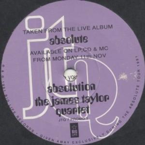The James Taylor Quartet - Absolution - Big Life - JTQ 7 PROMO 1