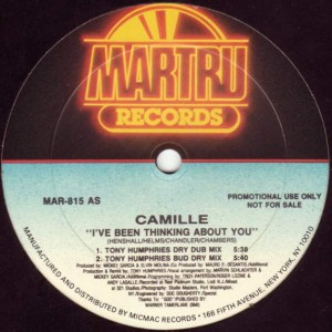 Camille - I've Been Thinking About You - Martru Records - MAR-815