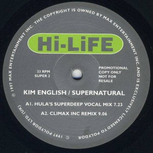 Kim English - Supernatural - Hi Life Recordings - SUPER 2