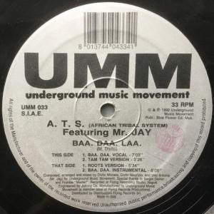 A.T.S. Featuring Mr. Jay - Baa. Daa. Laa. - UMM - UMM 033