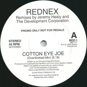 Rednex - Cotton Eye Joe - Zomba - RED I