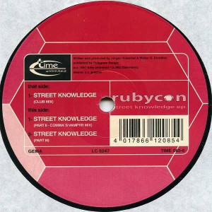 Rubycon - Street Knowledge EP - Time Unlimited - TIME 085-6