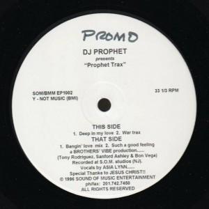 DJ Prophet - Prophet Trax - Bronze Mocha Music - BMM EP 1002