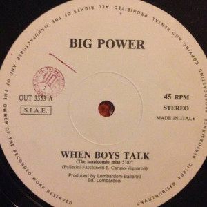 Big Power - When Boys Talk - Out - OUT 3353