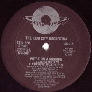 The Kidd City Orchestra - We're On A Mission - More Music Records - MM-008