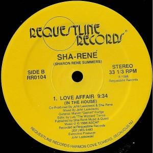 Sha Rene - Love Affair - Requestline Records - RR0104