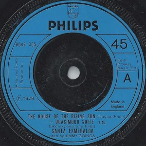 Santa Esmeralda Starring Jimmy Goings - The House Of The Rising Sun + Quasimodo Suite - Philips - 6042 355