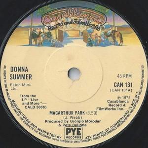 Donna Summer - MacArthur Park - Casablanca - CAN 131
