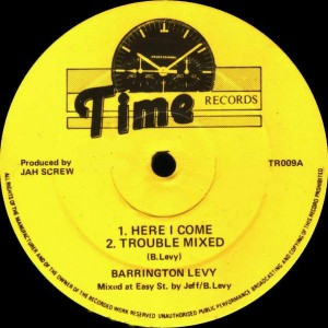 Barrington Levy - Here I come - Time Records - TR009