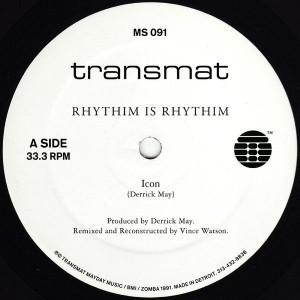 Rhythim Is Rhythim - Icon / Kao-Tic Harmony (Vince Watson Reconstructions) - Transmat - MS 091