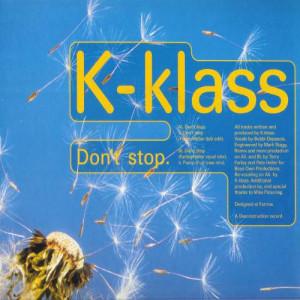 K-Klass - Don't Stop - Deconstruction - 12R 6325, Parlophone - 12R 6325