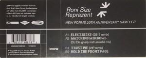 Roni Size / Reprazent - New Forms 20th Anniversary Sampler - UMC - 5790818, Mercury - 5790818, Talkin' Loud - 5790818