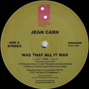 Jean Carn - Was That All It Was - Philadelphia International Records - PR65005P