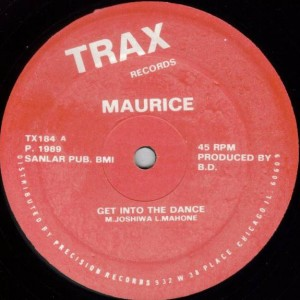 Maurice Joshua - Get Into The Dance - Trax Records - TX184