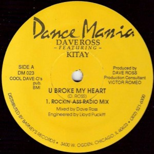 Dave Ross Featuring Kitay - U Broke My Heart - Dance Mania - DM 023