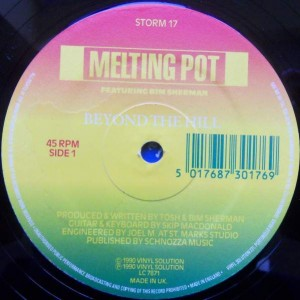 Melting Pot Featuring Bim Sherman - Beyond The Hill - Vinyl Solution - STORM 17