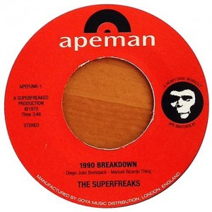 The Superfreaks - 1990 Breakdown - Apeman Records - APEFUNK 001