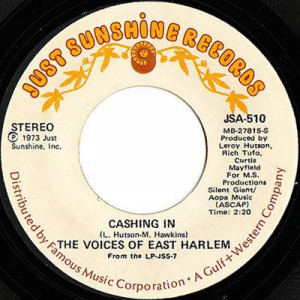 The Voices Of East Harlem - Cashing In  - Just Sunshine Records - JSA-510