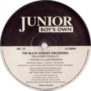 Black Science Orchestra - The Altered States E.P - Junior Boy's Own - JBO 22
