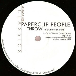 Paperclip People - Throw / Remake (Basic Reshape) - Planet E - pe pcp 2, Planet E - pepcp 2