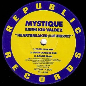 Mystique - Heartbreaker (I Can't Understand) / Salsa Party - Republic Records - LICT 009