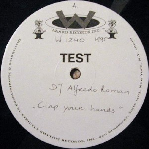 Alfredo Roman - Clap Your Hands - Waako Records - W 1240
