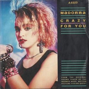 Madonna - Crazy For You - Geffen Records - A 6323