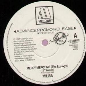 Milira - Mercy Mercy Me (The Ecology) - Motown - ZT 43680DJ