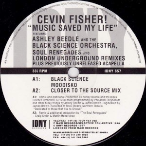 Cevin Fisher - Music Saved My Life - IDNY Records - IDNY 657