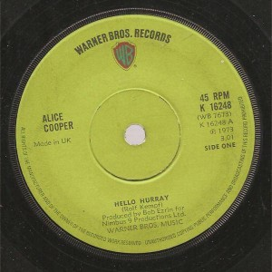 Alice Cooper - Hello Hurray - Warner Bros. Records - K 16248