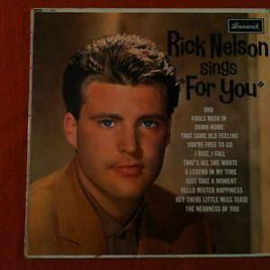 """Ricky Nelson - Rick Nelson Sings """"For You"""" - Brunswick - LAT 8562, Brunswick - LAT.8562"""