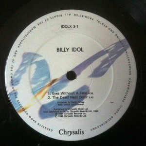 Billy Idol - Eyes Without A Face - Chrysalis - IDOLX 3