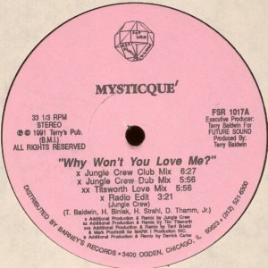 Mysticque' - Why Won't You Love Me? - Future Sound R & R Records - FSR 1017