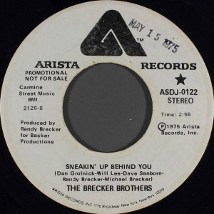 The Brecker Brothers - Sneakin' Up Behind You - Arista - ASDJ-0122