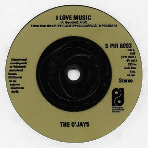 The O'Jays - I Love Music - Philadelphia International Records - S PIR 6093