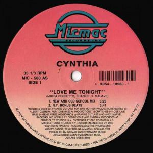 Cynthia - Love Me Tonight - Micmac Records, Inc. - MIC-580