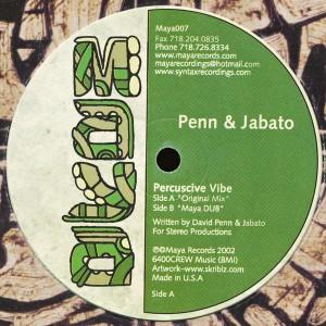 Penn & Jabato - Percuscive Vibe - Maya - Maya007