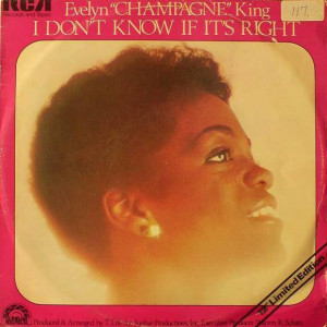 Evelyn King - I Don't Know If It's Right - RCA Victor - PC 1386