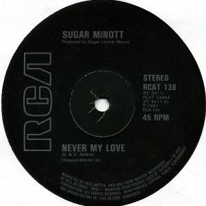 Sugar Minott - Never My Love - RCA - RCAT 138, RCA - PC 5411