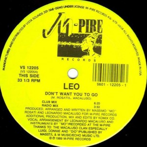 Lenny Macaluso - Don't Want You To Go - M-Pire Records - VS 12205