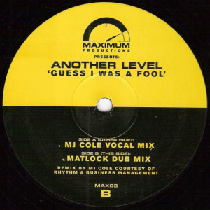 Another Level - Guess I Was A Fool - Maximum Productions - MAX03