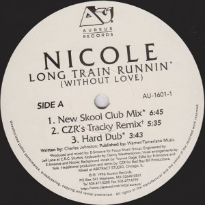 Nicole J McCloud - Long Train Runnin' (Without Love) - Aureus Records - AU-1601-1